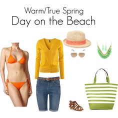"""""""Warm/True Spring Day on the Beach"""" by katestevens on Polyvore"""