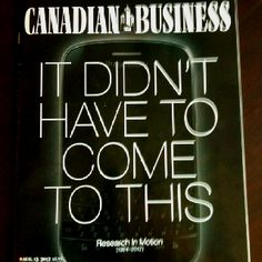 This month's Canadian Business magazine....