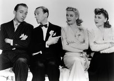 Bing Crosby, Fred Astaire, Marjorie Reynolds, and Virginia Dale from Holiday Inn. The Best. Golden Age Of Hollywood, Classic Hollywood, Old Hollywood, Hollywood Glamour, Hollywood Stars, Hollywood Icons, Old Movies, Great Movies, Awesome Movies