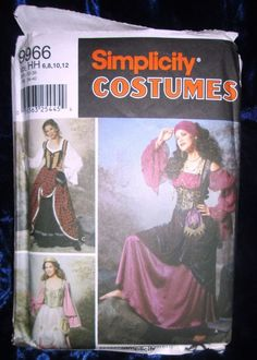 SIMPLICITY #9966 -Ladies Gypsy-MEDIEVAL-PRINCESS-WENCH COSTUME PATTERN  6-20 uc