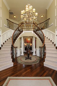 """If I had a house like this... I would expect to have the VonTrapp family live with me and they would sing """"So Long Farewell"""" from the staircase EVERY NIGHT."""