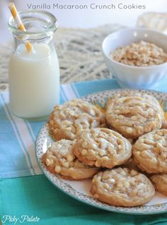 Vanilla Macaroon Crunch Cookies by Picky Palate (uses coconut oil and granola)