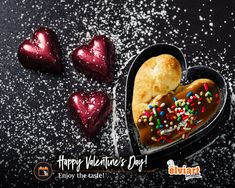 Ο έρωτας περνάει από το στομάχι  και έχει γεύση τόσο αφράτη και σοκολατένια!  Enjoy the taste!  #valentine #chocolate #delicious #love #forever #elviart #pita #flatbread #pitabread #souvlaki Happy Valentines Day, Acai Bowl, Pudding, Breakfast, Desserts, Food, Tailgate Desserts, Meal, Dessert