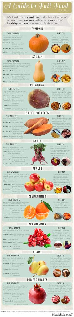 A Guide to Fall Food   NutriLiving   A Guide to Fall Food    Published by NutriBullet   The cooler weather, the falling leaves… it must me Fall! While we'll miss the exciting flavors of summer, we're stoked to see autumn produce hitting our local groceries. Squashes and tubers and even pomegranates – and with all their nutrients, to boot!   Take a look at this list of fall favorites along with their incredible health benefits