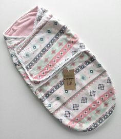 Pink Aztec Swaddle Snuggler by ShopBumbleBerryBaby on Etsy