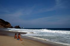 Mazunte beach, on the Costa Chica in Oaxaca, Mexico. Mazunte is one of the small towns clustered along this stretch of the Pacific in the southern part of the country.