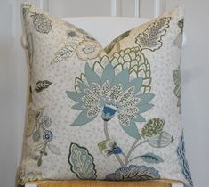 DOUBLE SIDED - DURALEE - Tilton and Fenwick's collection - Decorative Pillow Cover - Aqua - Spa Blue - Navy - Green - Sofa Pillow - Cushion by TurquoiseTumbleweed on Etsy https://www.etsy.com/au/listing/175178349/double-sided-duralee-tilton-and-fenwicks