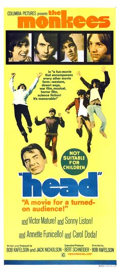 The movie head was released on November 6, 1968 and they paid  $750,000 to make this movie, but they only got $16,111 back so they lost a lot of money doing this movie.