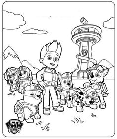 Free Printable PAW Patrol Coloring Pages are fun for kids of all ages! You'll go crazy for these printable PAW Patrol coloring sheets! Ryder Paw Patrol, Nick Jr Paw Patrol, Paw Patrol Rescue, Paw Patrol Rocky, Rubble Paw Patrol, Paw Patrol Party, Paw Patrol Birthday, Nick Jr Coloring Pages, Paw Patrol Coloring Pages