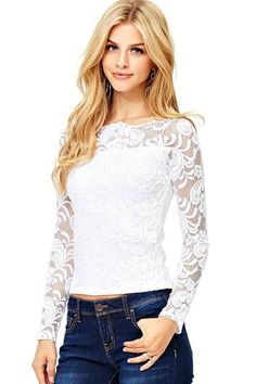 15538eb41f098 online shopping for Ambiance Women s Crop Lace Off-Shoulder Long Sleeve Top  from top store. See new offer for Ambiance Women s Crop Lace Off-Shoulder  Long ...