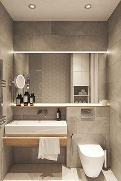 Badezimmer Waschbecken inspiration bathroom mirror ideas with perfect design, mirror # Minimalist Bathroom Design, Bathroom Layout, Modern Bathroom Design, Bathroom Interior Design, Minimalist Design, Bathroom Ideas, Small Bathroom Designs, Modern Small Apartment Design, Small Grey Bathrooms