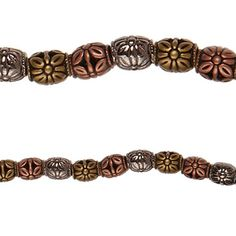 Bead Gallery® Metal-Plated Antique Barrel Beads, Multi-Colored