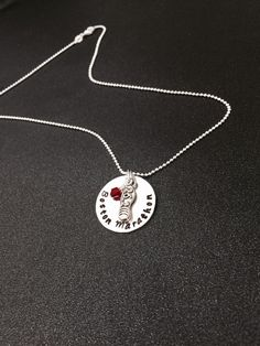 A personal favorite from my Etsy shop https://www.etsy.com/listing/218691329/hand-stamped-full-marathon-necklace