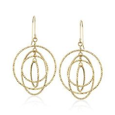 Multi-Circle Drop Earrings in 14kt Yellow Gold from RS $195