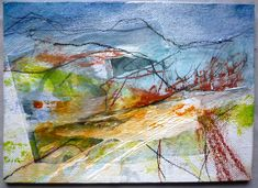 """5x7"""" Mixed media on board by Marie Allen. From the Shropshire sketchbook."""