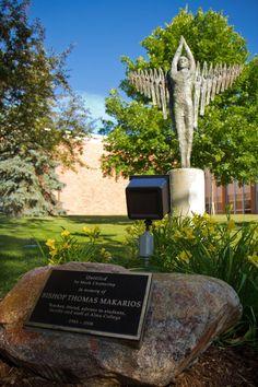 Sculpture in Memory of Bishop Thomas Makarios, Alma College, Alma, MI