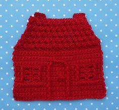 House Dishcloth Crochet PATTERN INSTANT by WhiskersAndWool