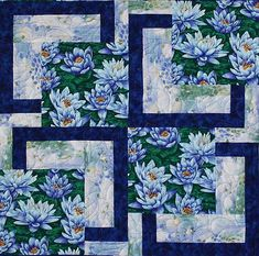 water-lily-bq-close-up.Posts about Quilts written by Sonya Quilt Square Patterns, Quilt Patterns Free, Pattern Blocks, Square Quilt, Japanese Quilt Patterns, Shirt Patterns, Patchwork Patterns, Patchwork Designs, Pattern Sewing