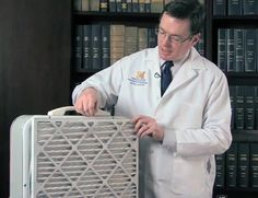 Make a HEPA air filter out of a box fan and HEPA furnace filter.