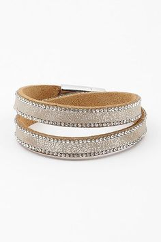 Leather Anderson Bracelet in Champagne