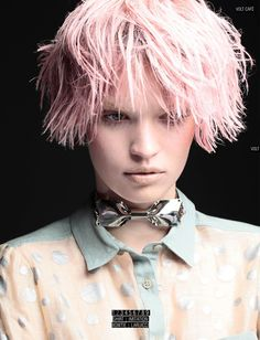 La Fibre Artistique for Vogue Paris September 2012 - La Fibre Artistique for Vogue Paris September 2012 is a punk and rocker series captured by fashion photographers Claudia Knoepfel and Stefan Indlek. Pink Ladies, Pastel Hair, Pink Hair, Pastel Pink, Creative Hairstyles, Cool Hairstyles, Dreads, Vogue Paris, Afro
