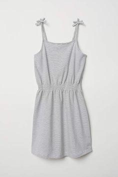 2de21498d2e0 H M Sleeveless Jersey Dress - White striped - Kids