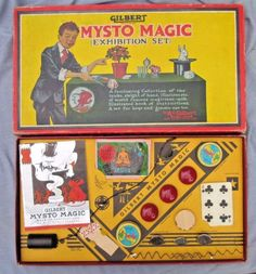 Vintage 1938 Mysto Magic Exhibition Set #1 A.C.Gilbert Toy Game