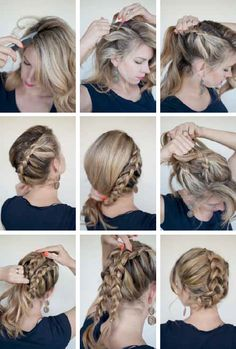 Blonde Highlighted Brunette With Dutch Braid Hairstyle Hairstyles