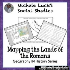 Mapping the Lands of the Romans Activity (Part of my Geography IN History Series)This mapping activity guides students through mapping the physical features of the Romans (Ancient to Empire) by researching 20 different questions and topics on the region.