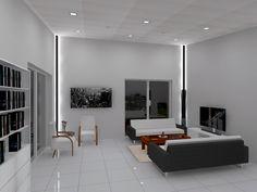 Livingroom lighting design.