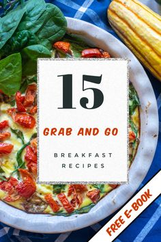 This FREE EBOOK gives you fast and easy breakfasts that have you out the door in minutes. All the meal prep instructions needed to get you healthier and thriftier in 2020! #ebook #breakfast #onthegobreakfast #mealprep #mealplan