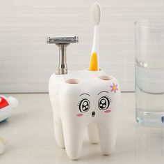 K-waii - Porta Cepillos Happy Tooth http://www.regalitolindo.cl/product/136327/porta-cepillos-happy-tooth