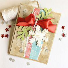 Card-Blanc by Kathy Martin: Shabby Chic Christmas Card