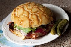 Louisville Hot Browns on a Dutch Crunch Roll from @Barbara Bakes {Barbara Schieving}