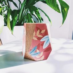 Diy Concrete Planters, I Heart Organizing, Painting On Wood, Hand Painted, Creative, Arts And Crafts, Pattern, Gifts, Wooden Toys