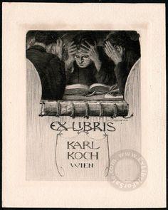 Alfred COSSMANN, Austrian artist, Vienna 1870 - 1951. - Ex Libris For Sale