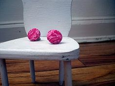 Fabric Covered Button Earrings - Tutorial