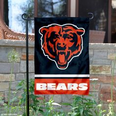 Chicago Bears Bear Head Logo Flag is 12.5x18 inches in size, is made of 2-ply polyester, and has two sided screen printed logos...