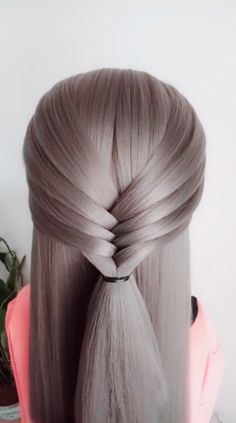 18 Exquisite EASY Fishtail Braid Hairstyle Tutorial For Women # fishtail Braids videos Fishtail Braid Hairstyle for students Easy Fishtail Braid, Fishtail Braid Hairstyles, Easy Hairstyles For Long Hair, Braided Hairstyles Tutorials, Braids For Long Hair, Back To School Hairstyles Easy, Fishbone Braid, New Braided Hairstyles, Wedding Hairstyles
