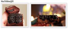Raw sjokolade med blåbærfyll! (En helseblogg om jakten etter en friskere...) Om, Desserts, Blogging, Tailgate Desserts, Deserts, Postres, Dessert, Plated Desserts