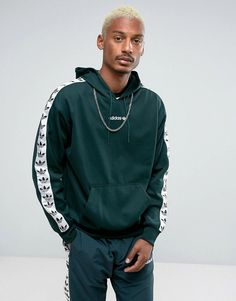 adidas Originals Adicolor TNT Tape Hoodie In Green BS4689 - Green