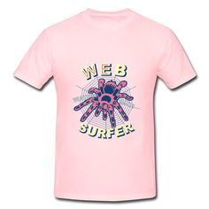 Spider Web Pink Heavyweight T-shirt For Men No Minimums-Animals & Nature  Clothing shop from HICustom.net .24 hour service available.