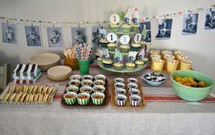 cute first birthday set-up