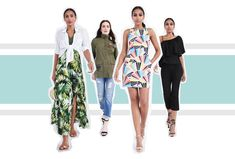 I'd wear looks 1 & 2. I'll do some tropical prints, some kids of embroidery.  (no to most bright bold graphics and ruffles.) Spring 2017 Trend Report | Stitch Fix