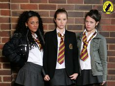 Janeece, Chlo & Maxine in Waterloo Road Act Your Age, Waterloo Road, Jenna Coleman, School Uniform, Looking For Women, Punk Rock, Cool Girl, Tv Shows, Mini Skirts