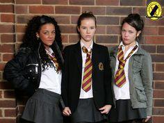 Janeece, Chlo & Maxine in Waterloo Road School Blazer, School Uniform, Waterloo Road, Road Pictures, Girly Girl Outfits, School Girl Dress, Jenna Coleman, Real Women, Punk Rock