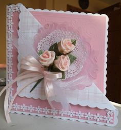 If you need any help with your Card Making please post a comment, and I will get back to you as soon as I can. Scrapbook Templates, Scrapbook Cards, Scrapbooking, Wedding Anniversary Cards, Wedding Cards, Card Making Inspiration, Making Ideas, Mothers Day Cards, Paper Roses