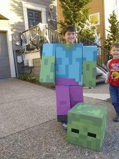Josh Dickerson uploaded this image to 'Minecraft Zombie'. See the album… - Minecraft World Minecraft Halloween Costume, Minecraft Costumes, Old Halloween Costumes, Minecraft Toys, Minecraft Crafts, Minecraft Party, Halloween 2020, Halloween Outfits, Diy Costumes
