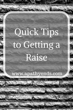 Strategies I have used to get a raise from my employer. If you are underpaid, these tips will help you prepare! via @apathyends