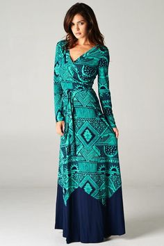 Blue and Green Dress.